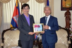 TNI Vice President pays a courtesy call on Ambassador of Cambodia