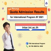 Quota Admission Results for International Programs for the Academic Year 2021 (1st Round)